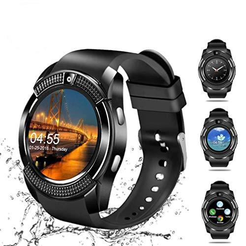 Práctico Reloj Inteligente a Prueba de Agua para Hombres con cámara Reloj Inteligente Podómetro Monitoreo del Ritmo cardíaco Tarjeta SIM Reloj de Pulsera IP68 Reloj Inteligente a Prueba