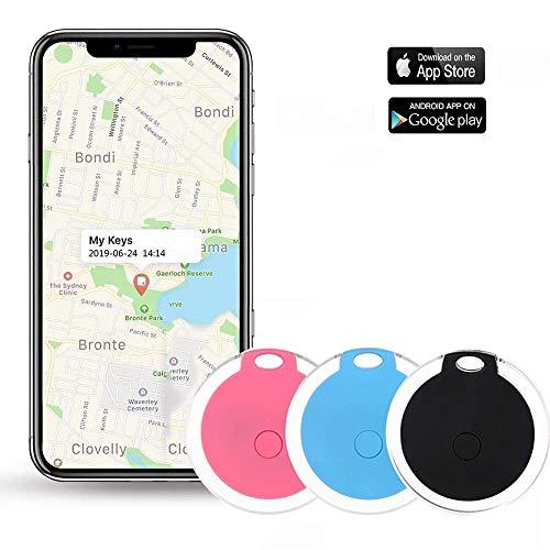 Key Finder, Afaneep Localizzatore Chiavi Bluetooth con APP Telecamera di Controllo e Funzione di Registrazione Promemoria Allarme, Posizione GPS Trackers Pink