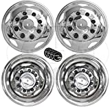 A+ 17 Inch Stainless Steel Dually Wheel Simulator Set for 2011 Current GM/Chevy 3500HD