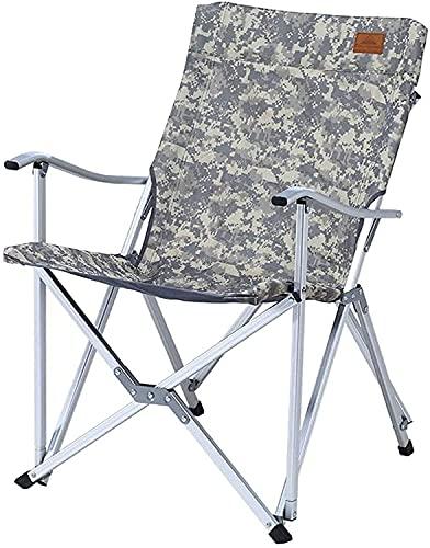 silla de camping, Sillón plegable para acampar portátil, camuflaje de estilo nacional playa silla plegable sol plegable aleación de aluminio aleación plegable taburete auto conducción camping slacker