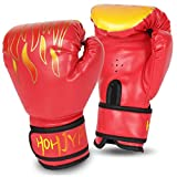 HOHJYA Kids Boxing Gloves, 4oz Boxing Gloves for Kids Boys Girls Junior Youth Toddlers, Training Gloves for Punching Bag, Kickboxing, Muay Thai, MMA, Sparring Age 5-12 Years