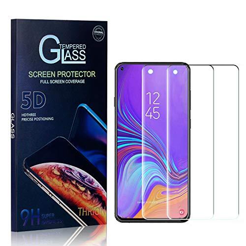 THRION Panzerglas Schutzfolie für Galaxy A8S, Anti-Bläschen, Anti-Kratzen, Bildschirmschutz Panzerglasfolie Folie für Samsung Galaxy A8S, 2 Stück