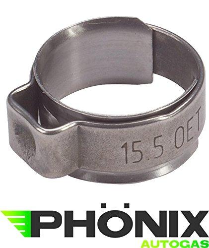 Phoenix Normfest Oetiker Schlauchschellen Schellen Klemmschellen Klemmen 14,6mm - 16,8mm (50) (0,70 Euro/Stück)