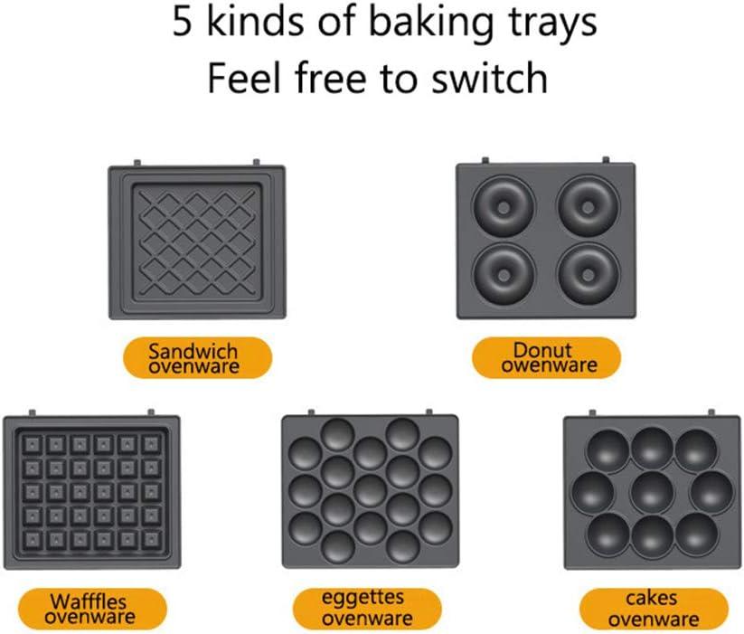 STKJ Machine À Sandwich Antiadhésive, Gaufrier Électrique Multifonctionnel Eggette Donut Takoyaki Grill Pan Gâteau Vaisselle,Rose White