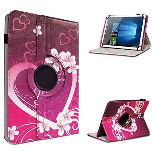 UC-Express Robuste Tablet Schutzhülle kompatibel für ASUS ZenPad 8.0 Z380M aus hochwertigem Kunstleder Hülle Tasche Standfunktion 360° Drehbar Cover Hülle Universal, Farben:Motiv 2