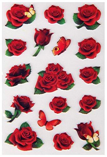 Bestlivings fröhlich Bunte Sticker zum Aufkleben, Stickerbögen mit Blumen, in vielen verschiedenen Motiven verfügbar (Design: Blumen 1)