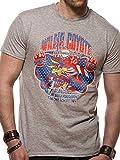 I-D-C CID Looney Tunes-Wile E Coyote Camiseta, Gris (Sports Grey Grey), S para Hombre