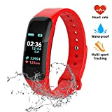 FJunHappy Fitness Tracker, Color Screen Activity Tracker with Blood Pressure Blood Oxygen, IP67 Waterproof Smart Watch with Heart Rate Sleep Monitor Calorie Counter Pedometer for Men, Women and Kids