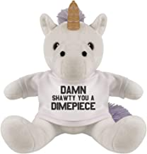 Customized Girl Damn Shawty Valentine's Day Unicorn: 8 Inch Unicorn Stuffed Animal