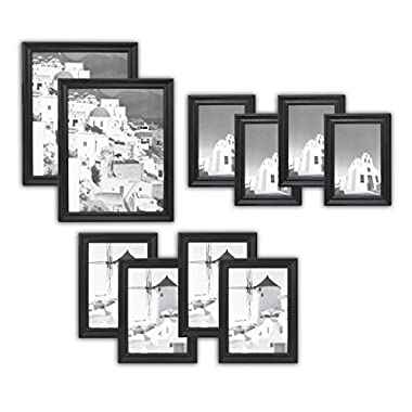 Golden State Art Wall Frame Collection, Set of 10, Solid Wood Photo Frame, Black