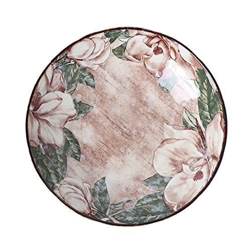 Cuenco Especial para Cocina de inducción Hecho en China S Plato de cerámica Plato de Postre Plato de Frutas Adecuado para restaurantes Cocinas y reuniones Familiares Adecuado para hornos micro