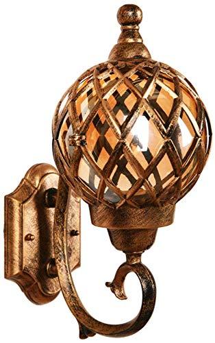 Beautiful Home Decoratielampen voor het jaar E27 buitenmuur, waterdicht, tuinlamp, buitenverlichting van aluminium en glazen bol, schaduw, huis mur