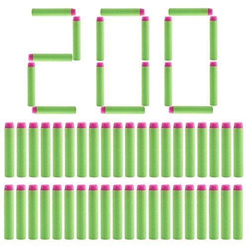 Batop 200 Stück Pfeile Dart Nachfüllpack für Nerf Rebelle / Nerf Fortnite (Grün)