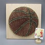 HNXYZXHYC - Fil de basket-ball pour garçons - Pour le football - Baseball - Rugby - Corde à enrouler en trois dimensions (couleur : B, taille : 30 x 30)