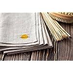 "Natural Linen 100% Flax Bath Towel. Best quick dry lightweight Towel. Grey 28"" X 58"". Folded"