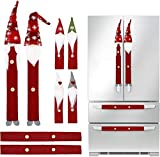 Dicollas Christmas Decorations Gnomes Refrigerator Handle Covers Set of 8Pcs, Christmas Kitchen Decor...