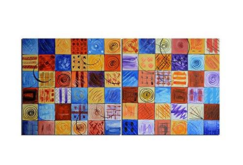 ruedestableaux - Tableaux abstraits - tableaux peinture - tableaux déco - tableaux sur toile - tableau moderne - tableaux salon - tableaux triptyques - décoration murale - tableaux deco - tableau design - tableaux moderne - tableaux contemporain - tableaux pas cher - tableaux xxl - tableau abstrait - tableaux colorés - tableau peinture - patchwork en duo