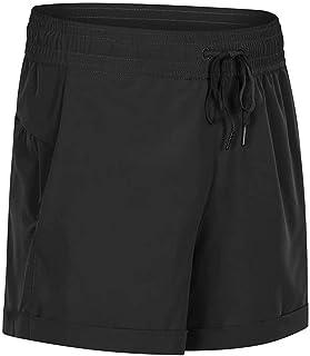 Loose Yoga Shorts Simple Fashion Elastic Waistband Running Fitness Sports Shorts,Black(4)