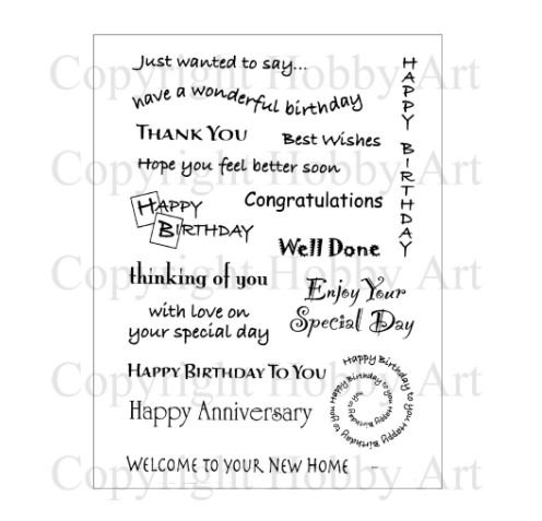 Hobby Art Clear General Greetings Stamps CS016D All Occasion