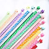 DIYASY 600 Pcs Origami Star Paper Strips,20 Color Luminous Craft Origami Lucky Stars Glow in The Dark Origami Paper Stars for DIY and Decoration.