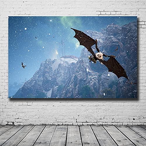 LGYJAL Popolare Gioco Online Biomutante Poster Tela Pittura Stampa HD Amanti del Gioco Decorazione Sala Studio Decor 50x70 cm (19,68x27,55 in) U-840