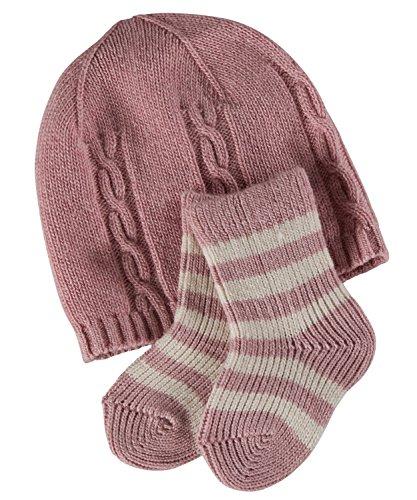 FALKE Kinder Socken Giftset, Wolle/Kaschmirmischung, 1 Stück, Rosa (Rosewater 8666), Größe: 74-80