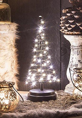 Christmas United LED Weihnachtsbaum mit 40 Lichtern, warmweiß, ca. H25xB10 cm