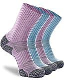 Calcetines de senderismo, 4 unidades Elite Full Cushion Invierno Grueso Calentado Botas Calcetines para Caza Esquí Trabajo Caminar