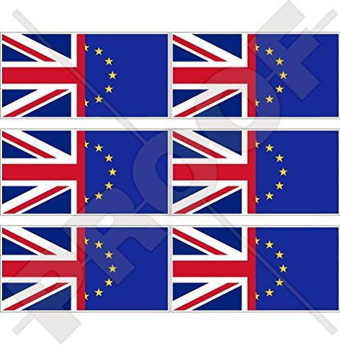 Europe-uk Drapeau, European Union-united Royaume Eu-british Union Jack 40 mm (40,6 cm) Housse de téléphone portable en vinyle Mini stickers, décalcomanies X6