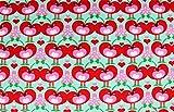 Jerseystoff Happy Cherries mit Kirschen | 1,50 Meter breit