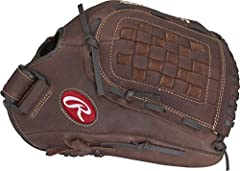 12 1/2 inch slow pitch adult baseball glove great for recreational Baseball and Softball games Zero Shock palm padding for increased impact protection while catching Quick and easy break in for a game ready feel. Pro Micro lining Conventional back wi...