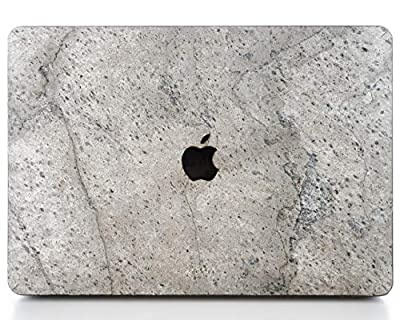 WOODWE® Macbook Case made of Real Stone | for Mac Pro 13 inch With Thunderbolt/Apple logo is not white | Late 2016 – 2019 | Natural SILVER GREY Stone