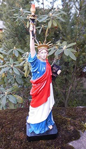 Freiheitsstatue Dekofigur New York Statue Skulptur rot-Weiss-blau 40cm