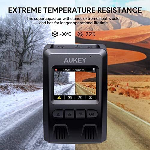 AUKEY 1080p Dashcam Vorne und Hinten【Verbesserter Sensor】Autokamera mit 170 Grad Weitwinkel, Superkondensator, WDR Nachtsicht Kamera für Auto mit G-Sensor, Bewegungserkennung, Loop-Aufnahme - 8