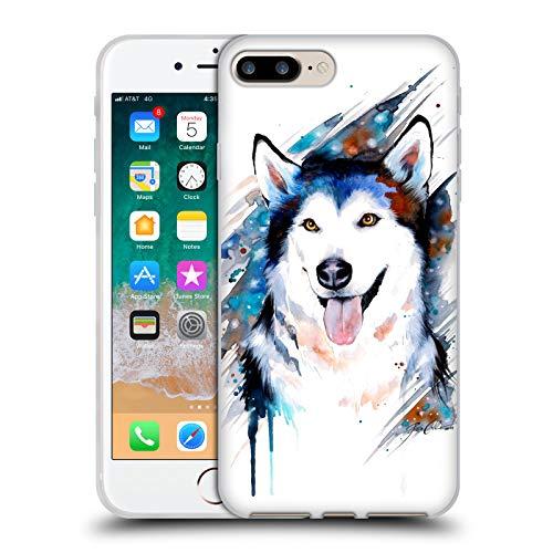 Head Case Designs Licenza Ufficiale Pixie Cold Husky Animali Cover in Morbido Gel Compatibile con Apple iPhone 7 Plus/iPhone 8 Plus