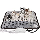 XXL Dog Heating Pad for Large Dog Bed Indoor,Outdoor Extra Large Dog Heated Pad,Pet Heating Dog Pad,Cat Warming Mat,Chew Proof Steel Cord,Waterproof,for Small Medium Pet Cat Puppy Dog Bed,King Size