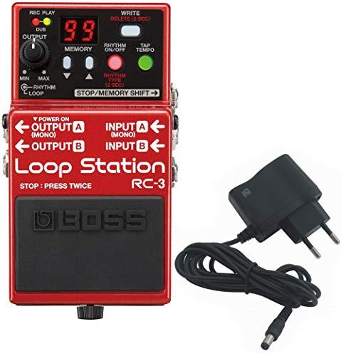 BOSS RC-3 Loop Station Looper + shop2rock 9V alimentatore di rete