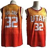 XIAOHAI Men's NBA Basketball Jerseys Jazz # 32 Karl Malone Classic Jersey Transpirable Resistente al Desgaste Vintage Baloncesto All-Star Unisex Fan,XL