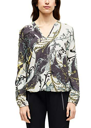 s.Oliver BLACK LABEL Damen 29.001.11.2852 Bluse, Black AOP, (Herstellergröße: 40)