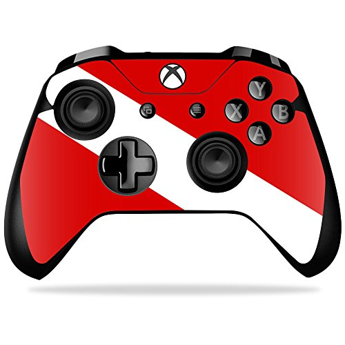 MightySkins Skin Compatible with Xbox One X Controller - Scuba Flag   Protective, Durable, and Unique Vinyl Decal wrap Cover   Easy to Apply, Remove, and Change Styles   Made in The USA