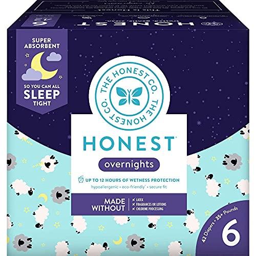 The Honest Company Overnight Sleepy Sheep Diapers | Sustainably...