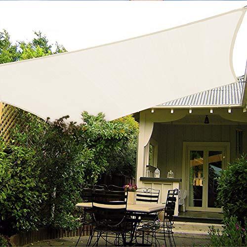 Patio Shack Toldo Vela Rectangular 2.5x4 m, Vela de Sombra HDPE, Transpirable, Resistente, Protección Rayos UV para Exterior, Jardín, Terrazas (Crema)