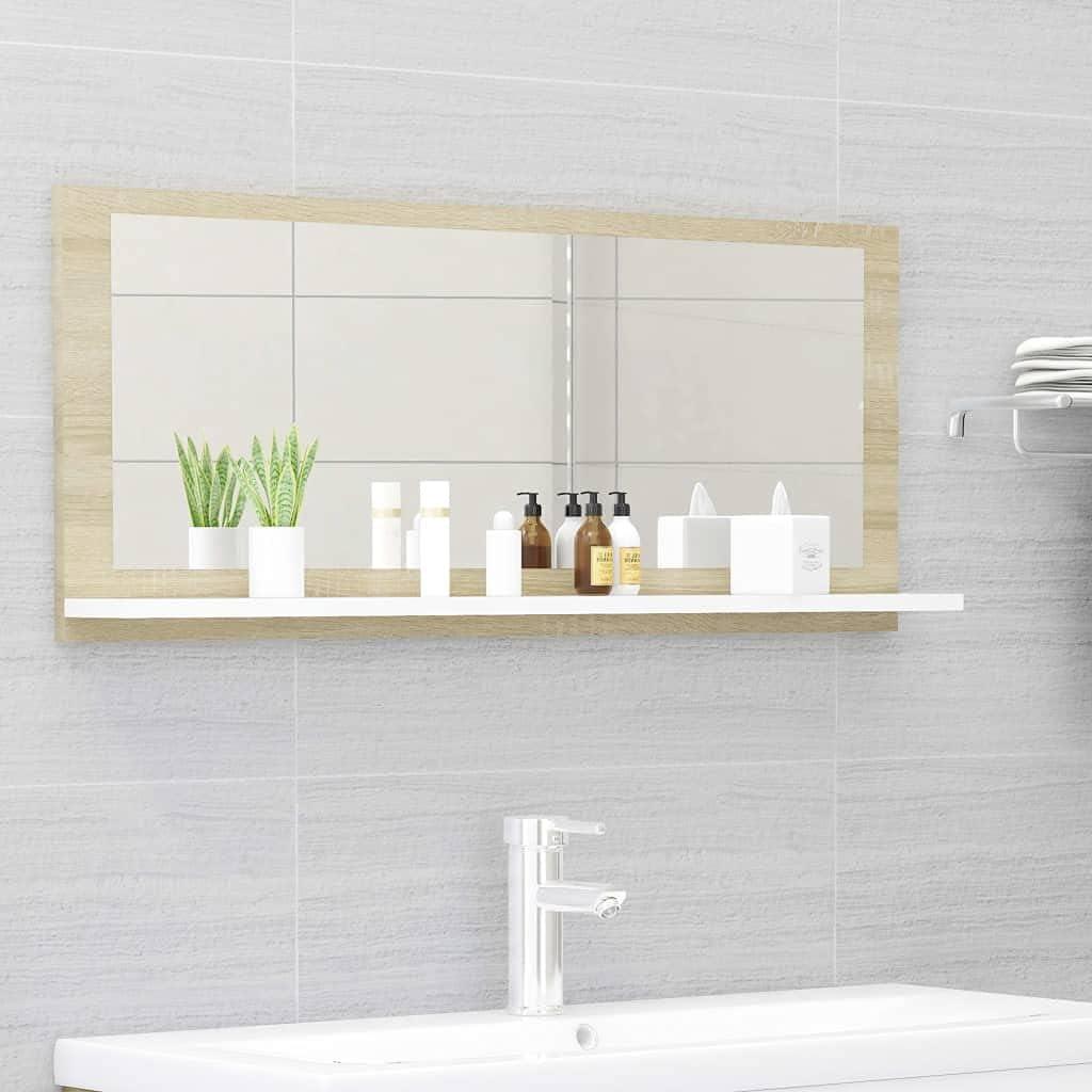 Furniking Max 59% OFF Limited time cheap sale Bathroom Mirror White 35.4