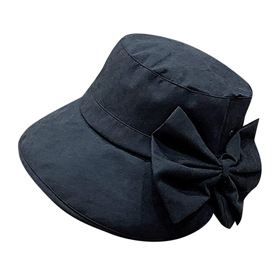 ハック州悪い女性 帽子 レディース UVカット ハット女の子 つば広い 漁師帽 女優帽 小顔効果 紫外線 対策 レディース 蝶結び UV 加工 リボン ハット ビーチ 日よけ テント ビーチサンダル ベレー帽 ROSE ROMAN