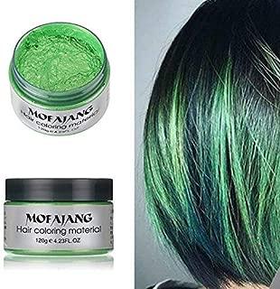 Unisex Disposable Light Fragrance Temporary Hair Coloring Styling Hair Mud Disposable Light Fragrance Hair Coloring Hair Wax Disposable Light Fragrance Hair Cream Halloween Dress Up (green)