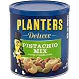 Planters Deluxe Pistachio Nut Mix (14.5 oz Canister) - Variety Nut Mix with Pistachios, Almonds & Cashews