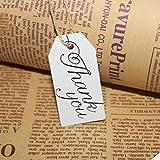 Yesiidor Lettre Imprimé Étiquette avec Trous Suspendus Merci Lettre Lettre Modèle Suspendu Étiquettes Souhaitant Arbre Panneau De Message Suspendu Décoration pour Jardin