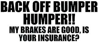 Back Off Bumper HUMPER Letters Car SUV Sticker Window Decorative Vinyl Decal - Black
