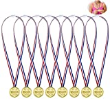 Febbya Médailles en Plastique,24 Pièces Médailles pour Enfants Petites Gagnants Mini Olympiques Médaille de Participation avec Lanière pour Jeux Partie Compétition Récompenses Cadeaux 4CM