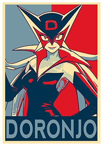 Poster Yattaman 'Propaganda' Miss Dronio - Formato A3 (42x30 cm)
